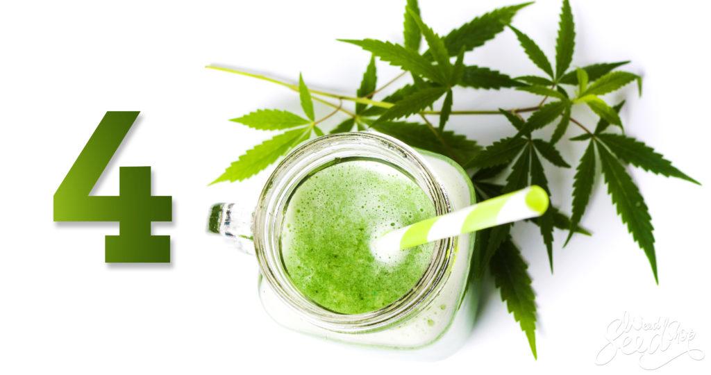 4 Leckere, Erfrischende Cannabis-Smoothies- WeedSeedShop