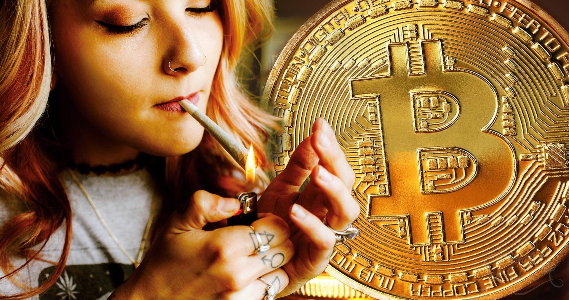El Cannabis y la criptomoneda: ¿Las Bitcoins pueden ser intercambiadas por cogollos?