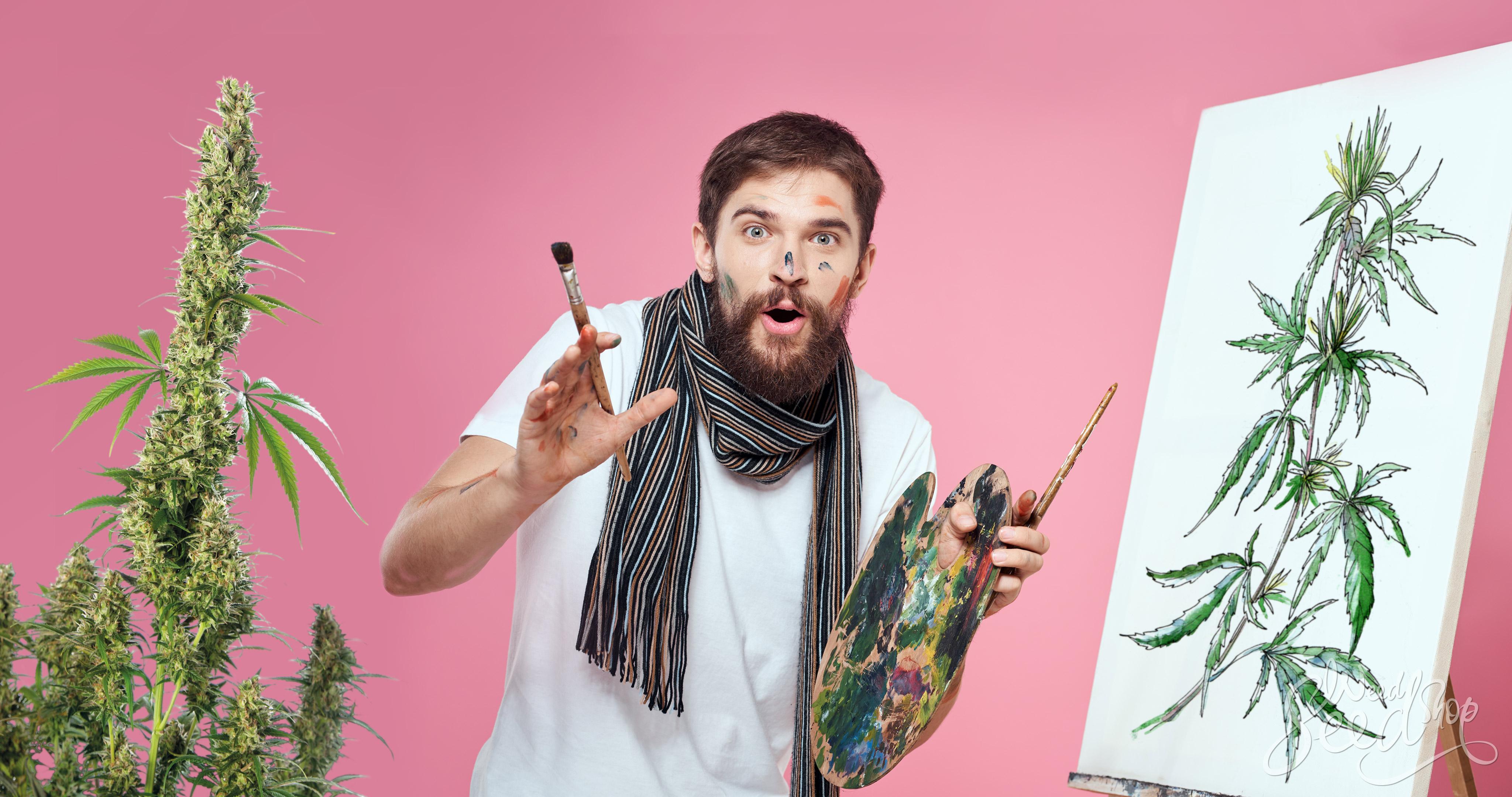 """¿Es solo una coincidencia que tantos músicos, artistas y emprendedores han admitido consumir cannabis? Hay un enorme número de famosos genios creativos y decoradores que afirman que el cannabis hace fluir su creatividad. ¿Cuánta verdad hay en ello? La mayoría de nosotros que hemos tenido experiencia con la marihuana inclusive podemos testificar que nos da más pensamientos creativos, inclusive si no nos hace crear nuestra próxima obra maestra. La sospecha de que el cannabis juega un papel importante en la actividad del lado derecho del cerebro (de la cual Carl Sagan habla detalladamente en su libro: Los dragones del Edén) podría estar justificada. Y sí, el lado derecho del cerebro es el lado más creativo. Algunos investigadores científicos sugieren que aunque factores como la dosis y la potencia de la hierba juegan un rol importante en ello, podría ser cierto. Para aquellos cuya exploración de sustancias va más allá de la marihuana, no podría ser una idea demasiado descabellada de que la creatividad aumente después consumir cannabis. Los humanos antiguos, como los egipcios y nativos americanos, eran aficionados a las substancias psicodélicas y la creación de arte. Pero antes de que los entusiastas de la marihuana se emocionen mucho sobre este potencial, los científicos dicen que las dosis demasiado altas en realidad podrían contrarrestar la creatividad. Así que parece que quizás hay una dosis precisa donde la marihuana inspira la creatividad. ¡Investiguemos! El estudio británico Carl Sagan es uno de los muchos grandes pensadores que han reportado altos niveles de pensamiento después de consumir marihuana. Para él, no se trataba solo sobre la inspiración para crear. La marihuana parecía tener el poder de llevar a su mente afuera de los lugares donde normalmente iba, dando espacio para nuevos tipos de pensamientos. En la crónica sobre la marihuana de Sagan llamada El Sr. X, él dice: """"Me parece que la mayoría de los pensamientos que tengo cuando estoy drogado se tratan """