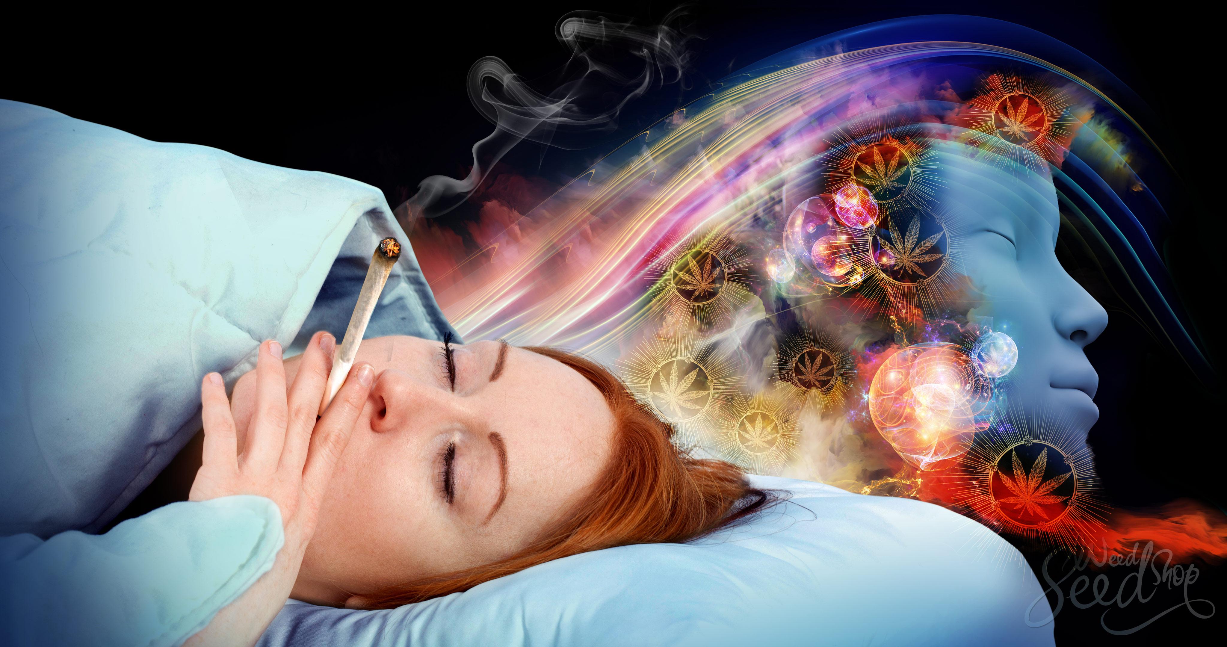 Effekt des Cannabis-Gebrauchs aufs Träumen