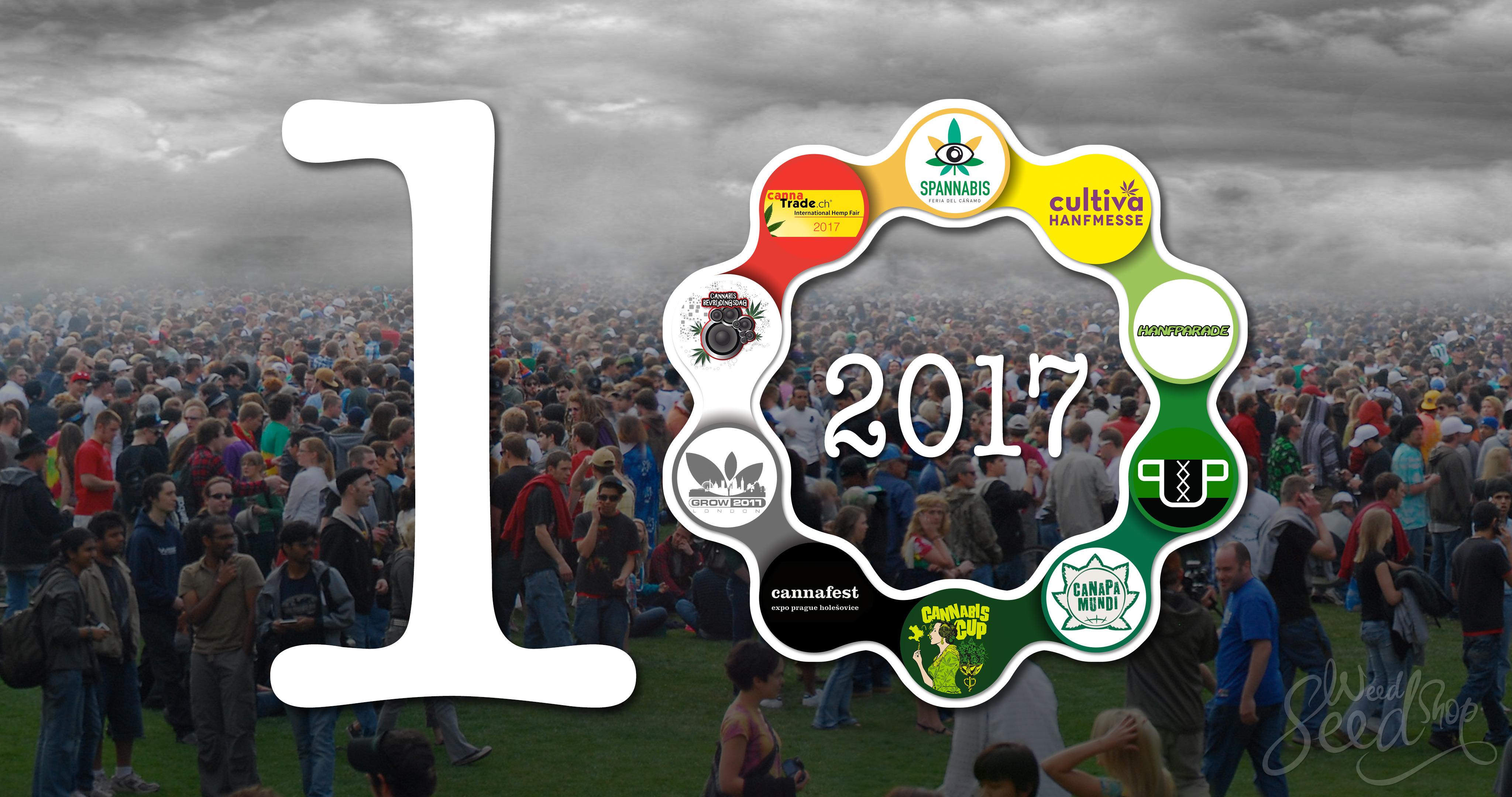 Top 10 eventos europeos de cannabis