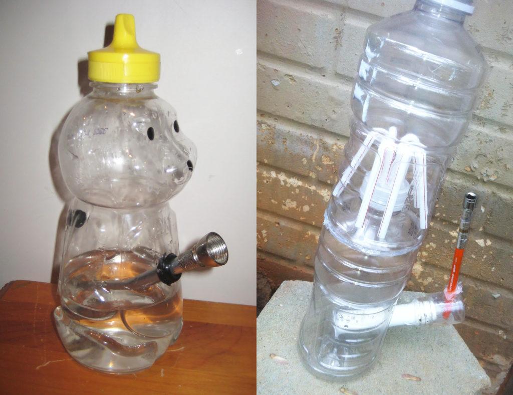 Faire un bang avec une bouteille d'eau